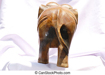 handcraft wood elephant