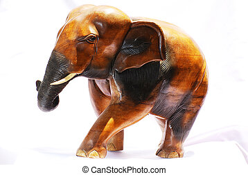 wood elephant sculpture from Asia