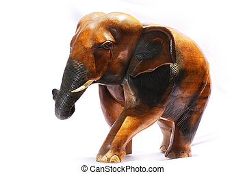 handcraft wood elephant sculpture