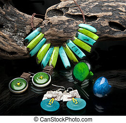 handcrafted jewelry handmade in Ecuador with tagua