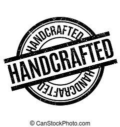 Handcrafted rubber stamp. Grunge design with dust scratches...