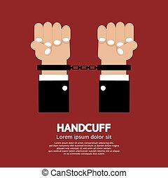 Handcuff. - Handcuff Vector Illustration.