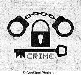 Handcuff symbol