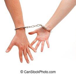 handcuffed, 女, 人