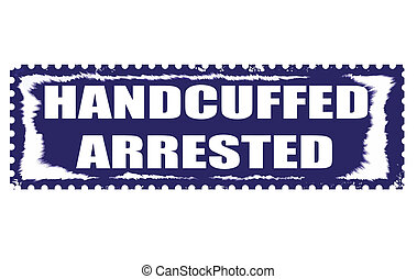 handcuffed arrested stamp
