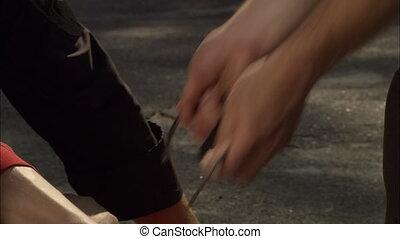 Handcuffs 3 - Criminal detention, close of an criminal\'s...