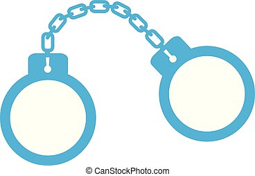 Handcuffs icon on white background. Handcuffs icon sign.