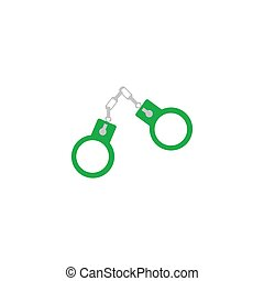 Handcuffs Icon Vector
