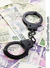 handcuffs on czech money