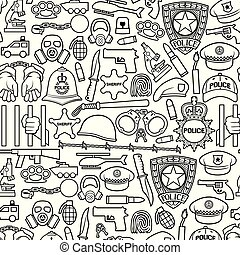 handcuffs, set, ketting, revolver, bullet), masker, auto, draad, helm, politie, sheriff, iconen, bom, (british, mager, stekelig, ster, vleermuis, gas, hoedje, handen, lijn, schild, bobby, officier, beugel, helikopter