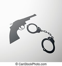 handcuffs. Stock illustration.