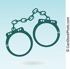 handcuffs. symbol of justice. police icon