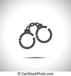 handcuffs vector icon