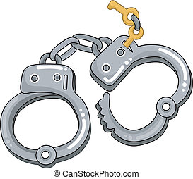 Handcuffs with Keys - Illustration of Handcuffs with Keys