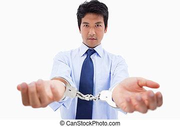 handcuffs, zakenman