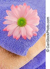 handdoeken, madeliefje