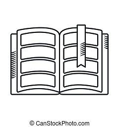 handdraw icon book - Handdraw sketch book icon. Flat vector ...