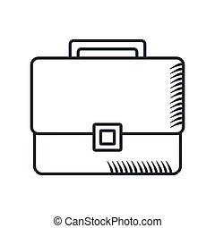 handdraw icon briefcase - Handdraw sketch briefcase icon. ...