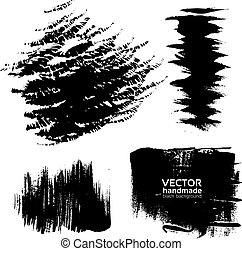 Handdrawing texture brush strokes of ink