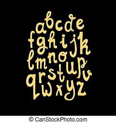 handdrawn, αλφάβητο
