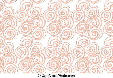 Handdrawn abstract seamless pattern