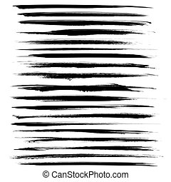 handdrawn, abstrakt, schwarz, langer, strok