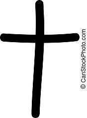 Handdrawn cross