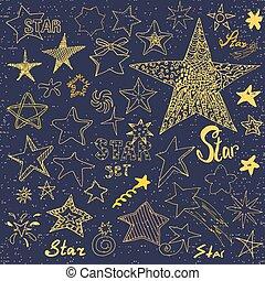handdrawn, doodles, schizzo, stella