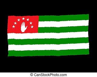 Handdrawn flag of Abkhazia