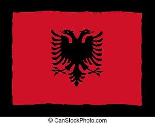 Handdrawn flag of Albania