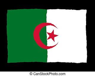Handdrawn flag of Algeria