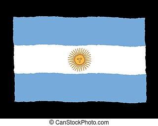 Handdrawn flag of Argentina