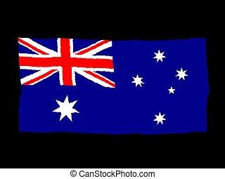 Handdrawn flag of Australia