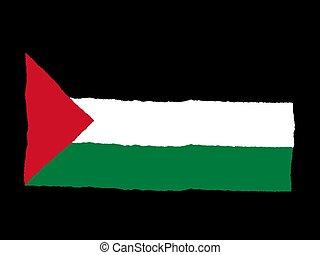 Handdrawn flag of Palestine