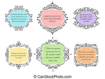 Handdrawn Floral Frame set