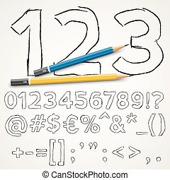 Handdrawn font