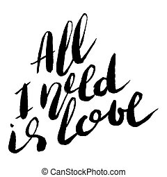 Handdrawn lettering of a love phrase. Unique typography ...