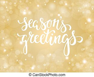 Handdrawn lettering season's greetings. design for holiday greeting cards and invitations