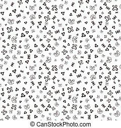 Handdrawn ornamental sketch pattern