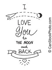 Handdrawn quotation about love