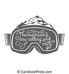 Snowboarding motivation quotes. Typographic Art for Poster Print Greeting Card T shirt apparel design, hand crafted vector illustration, vintage.