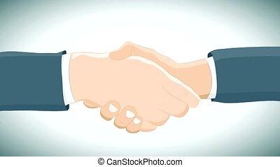 handdruk, bedrijfsovereenkomst