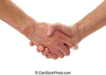 handdruk, witte , vrijstaand