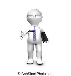 handdruk, zijn, deskundig, adviseur, stretching, hand