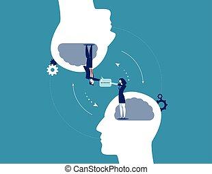 handel concept, communication., vector, illustration.
