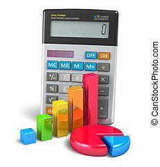 handel financi?n, bankwezen, en, boekhouding, concept