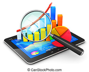 handel financi?n, boekhouding, en, statistiek, concept