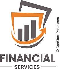 handel, finansowy, logo