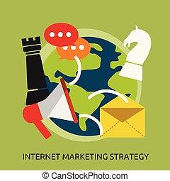 handel, ilustracja, strategia, projektować, internet, konceptualny