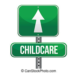 handel, pojęcie, childcare, znak